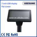 Ture Flat USB Powerd/Video Input Monitor Pole display Touchsreen For Pos 2nd Display