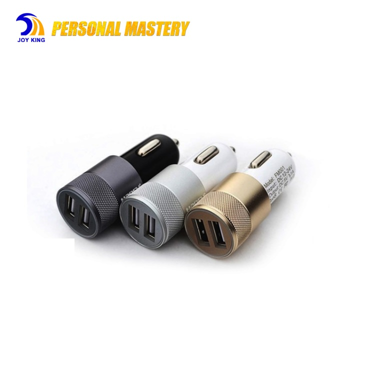 Mobile Phone Accessorie Dual 2 Port USB Car Charger For iPhone/Samsung/ 3.1A Mini Car Charger Adapter / Cigar Socket