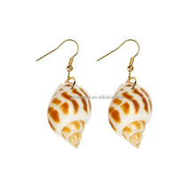 make earrings machine,new model earrings,fashionable natural Conch East spiral snail shape shell earrings(SWTFF767)