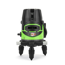 High precision cross line green 5 beam green laser level with red colour