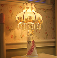 Resin wedding couple antique decorative table lamp