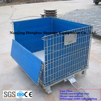 Hengtuo Heavy Duty Wire Mesh Storage Container for Warehouse Storage Rack