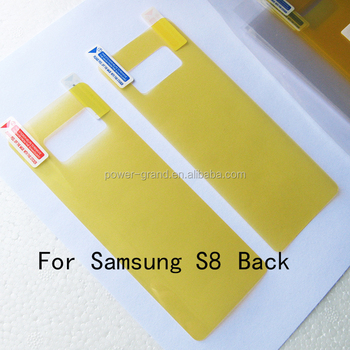 High quality imported Soft TPU FULL Screen protector film for Samsung Galaxy S8 Back