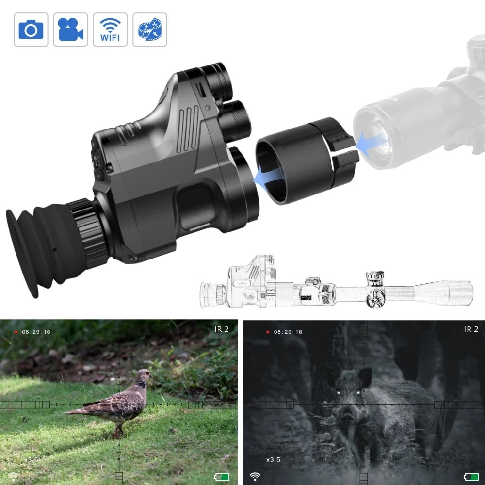China Digital Night Vision Riflescope With IR Illuminate Laser For outdoor Air Gun Hunting NV007