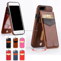 standing wallet PU leather+PC back cover bumper case for iphone 5s 6 6s 7 plus for Samsung note 4