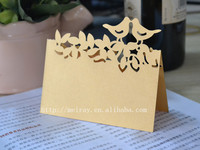 wedding cards bird place cards gold wedding table decorations