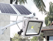 30W Solar Powered Remote Control Solar Street Light with Timer
