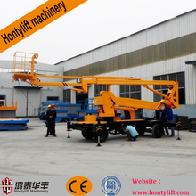 articulated boom lift/towable man lift for sale/aerial work platform traile