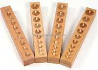 Wooden toys educational building blocks Montessori toys Socket cylinder toys