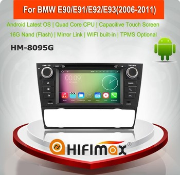 HIFIMAX Android 5.1.1 multimedia system for bmw e90 e91 WITH Quad-core 16G mirror link wifi car dab adaptor