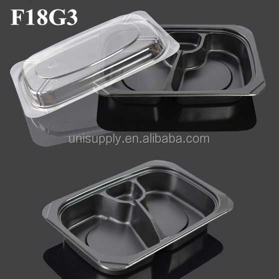 PP Plastic Disposable 3 Compartment Microwave Safe Takeaway Food Container Lunch Tray