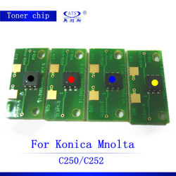 Reset color copier toner and drum chips C252 for Konica Minolta Bizhub