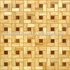 bamboo mosaic with popular design,basketweave art decoration
