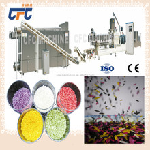 Rice making machine /extruder/ man made rice processing line