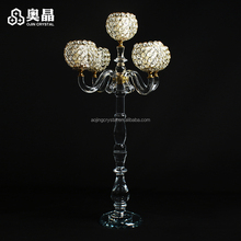 Wholesale crystal candelabra candle holder for wedding centerpieces