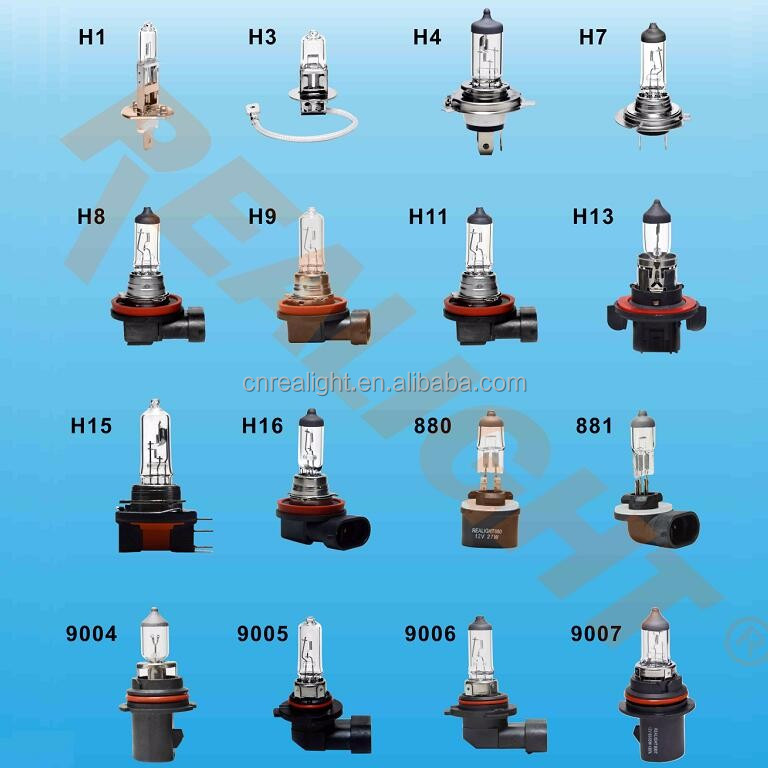 <strong>Auto</strong> Lamp Halogen Bulb H1 H3 H4 H7 H11 H13 H15 H16 9004 9005 9006 9007 880 881 as Car Light