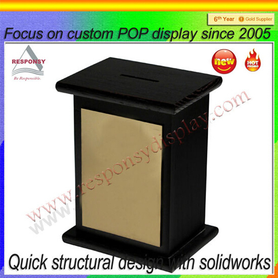 Customized Wood Charity Donation Money Box