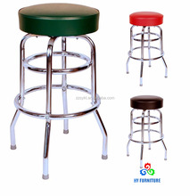 Commercial grade chrome restaurant metal cushion swivel counter bar stools wholesale