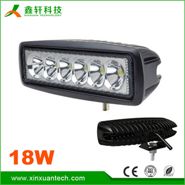 Waterproof high power led work lighting, 18w car led light bar tow truck led work light bar