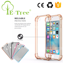 Shockproof Hybrid Rubber TPU Clear Mobile Phone Back Cover Case for Apple iPhone 7