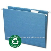 multicolor Paper Hanging File Folder, 25/box, 5 Tab, 100% recycled