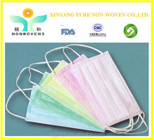 2015 New-designed PP nonwoven face cover face mask for Hospital, medical/food/electronic/chemical/beauty industry