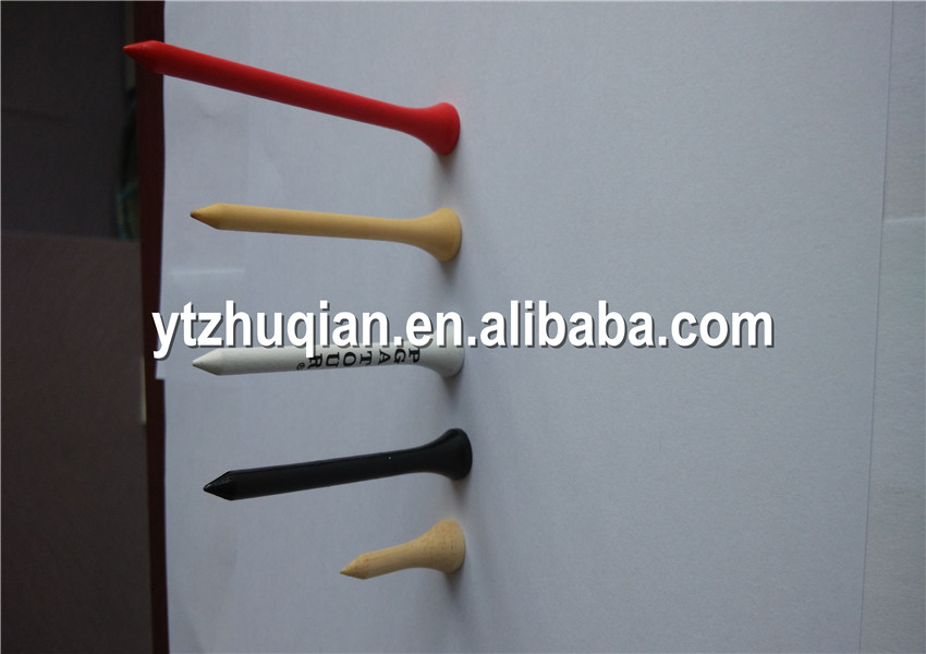 Wooden golf tees designer tees printed logo wholesale