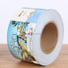Roller color printing double-sided adhesive sticker entertainment ticket printing