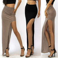 Walson 2014 fashion long skirts for High Waisted Side Open Long Maxi Dress Long Skirt Boutique boutique