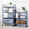Modern Design4/5-Layer Storage Drawer Bedside Shelf With Wheel