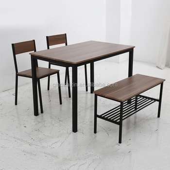 Custom design modern cheap simple dining room furniture MDF dining table set