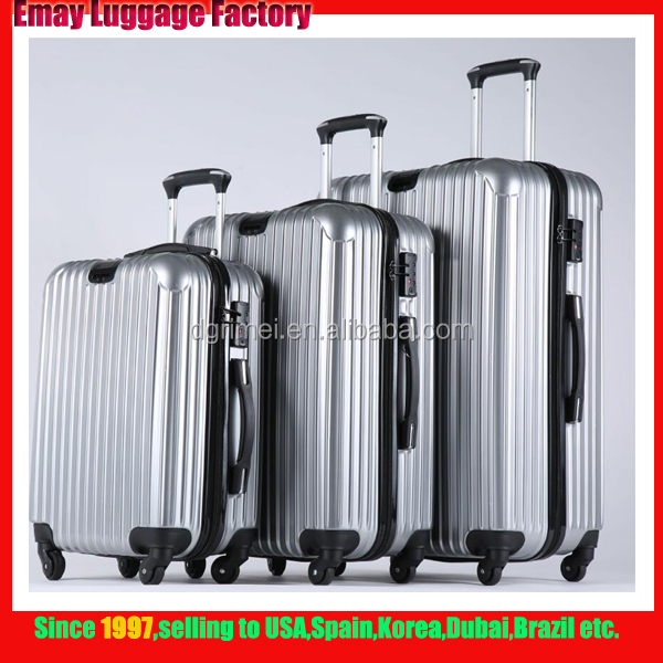 High Quality Custom LogoTSA lock hard shell travel PC ABS Luggage Bag