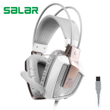 New item T8G virtual 7.1 surround sound USB PC gaming headphone for gamer LED light and vibration gaming headset with mic