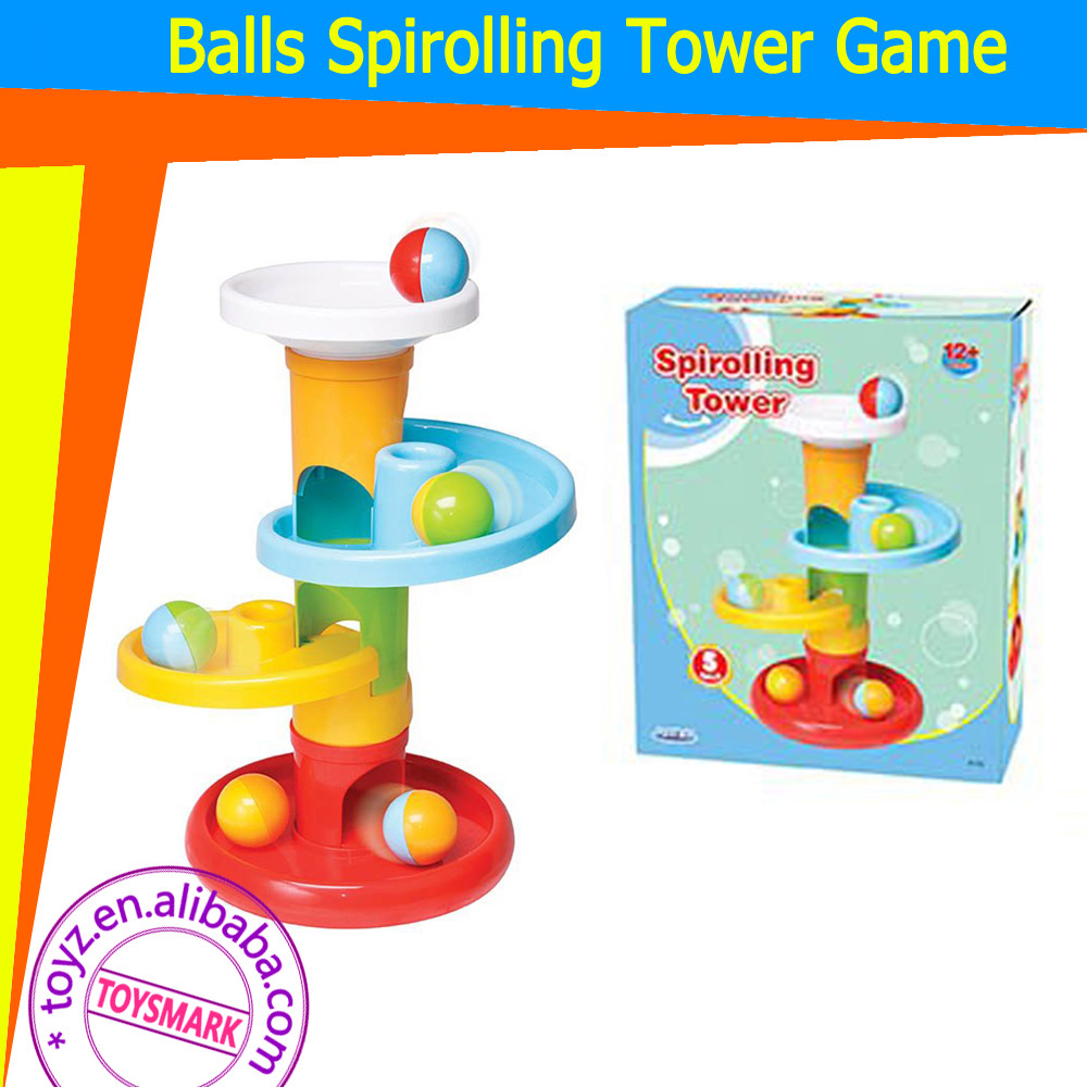 TOYZ Baby Educational Toys Kids Plastic Balls Game Spirolling Tower Play Set