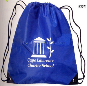 High quality custom recyclable 100% folding drawstring bag polyester,polyester bag