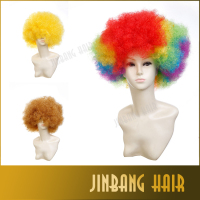 Halloween Cosplay Wigs 15 colors Costume Ball Party Carnival Clown Wigs Football Fan Wig