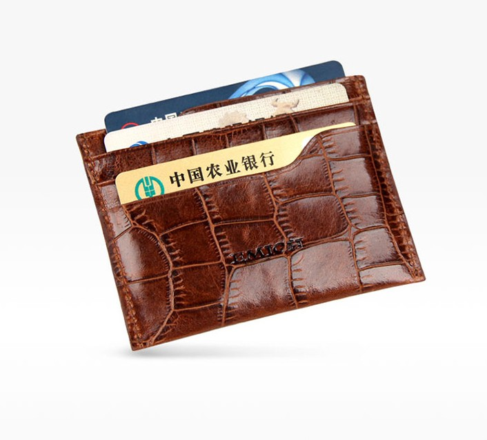 Alligator Leather man card holder pocket 2017