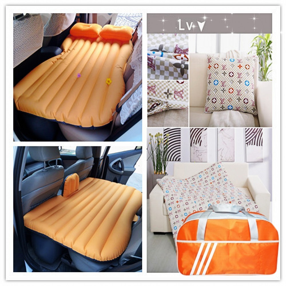 0.55mm PVC Travel Back Seat Cushion Air Mattress Inflatable Car Bed
