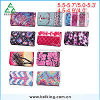 Mobile phone Universal Leather Wallet Case for iPhone 4 5 6 6S Plus for Galaxy S4 S5 S6 Edge Plus Note 345