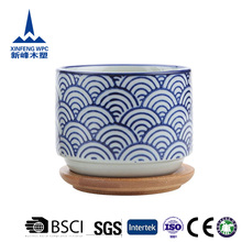 Japanese style indoor chinese ceramic blue and white flower pot