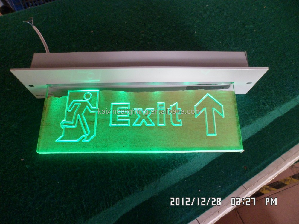 2014 hot sale sign light rechargeable LED Emergency rechargable wall mounted emergency exit sign
