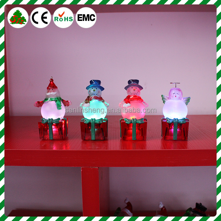 2016 alibaba express newest design party decoration EN71-12 passed for Europe OEM No nitrosamines flashing led light snowman orn