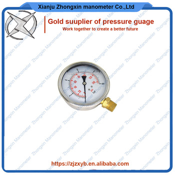 Zhongxin liquid pressure manometer 10bar oil gauge with hot selling