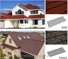roofing building materials baking sand coating unfading galvanized covered shingles tile