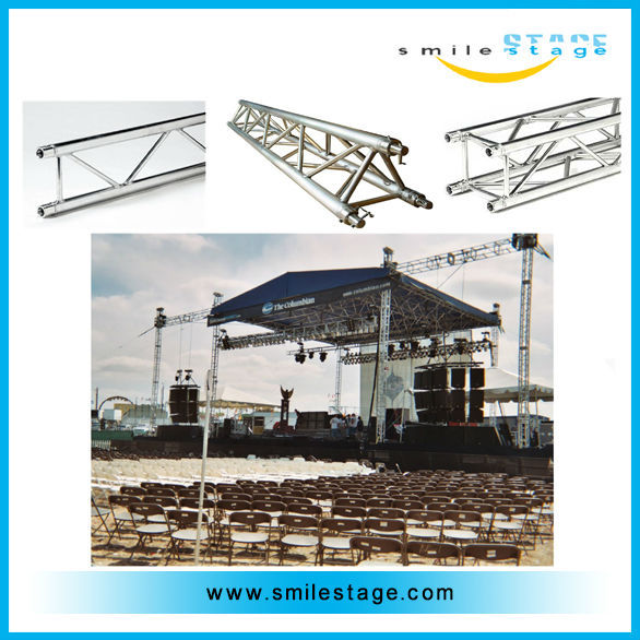 outdoor stage lighting truss with metal roof for sale