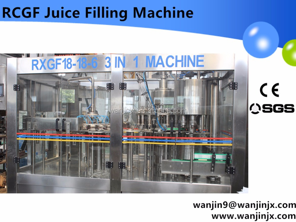 2017 New design Fully automatic beverage drink hot filling machinery /Tea filling line/ hot filling
