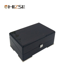 Wood Black Finish Single Display Watch Box