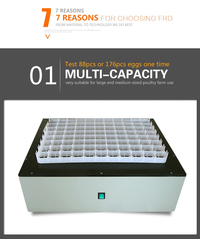 88 capacity egg tester /incubator egg tester for sale