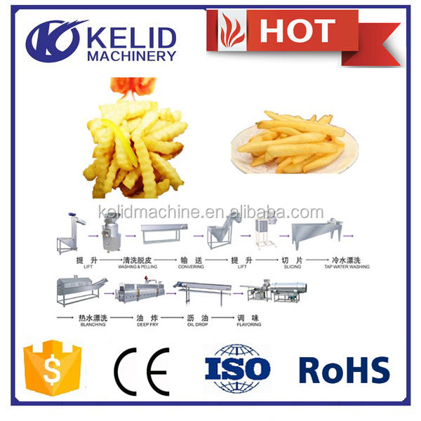 high quality automatic potato chips french fries machine