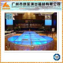 Aluminum wedding stage , concert stage, Acrylic Glass stage platform for Event